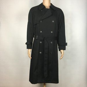 London Fog Mens Double-Breasted Trench Coat Sz 40